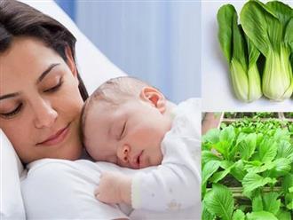 Phụ nữ sau sinh nên ăn rau gì, mẹ đã biết chưa?