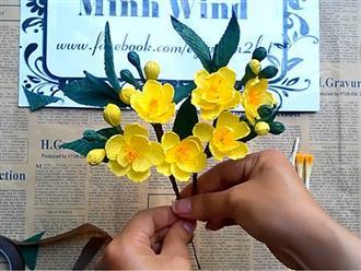 Cách làm hoa mai bằng giấy đẹp rạng ngời đón Tết đang về