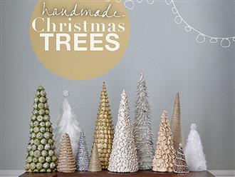 Hướng dẫn làm cây thông Noel bằng dây kim tuyến đẹp lung linh