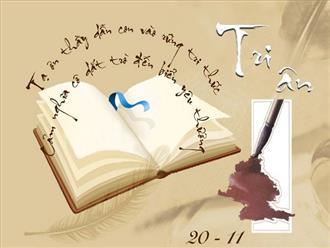 Cách viết thư tri ân thầy cô nhân ngày 20/11