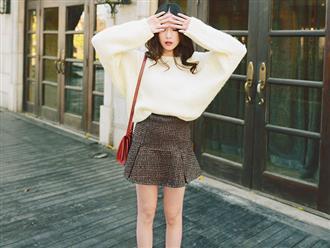 Mix đồ mùa đông với chân váy giúp bạn gái thêm năng động tự tin
