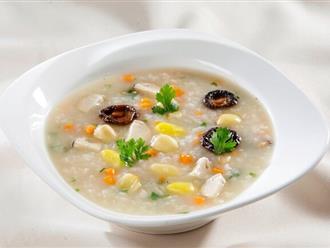 Cách nấu cháo gà hạt sen thơm ngon bổ dưỡng ấm lòng ngày mưa