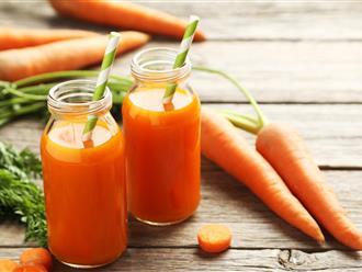 Nước ép cà rốt có tác dụng gì đối với sức khỏe?