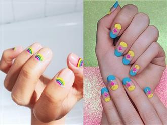 10 mẫu móng tay màu neon bừng sáng dưới nắng hè