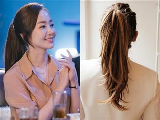 4 cách diện tóc đuôi ngựa bồng bềnh đẹp như thư kí Park Min Young mà ai cũng làm được