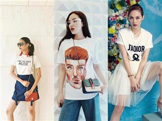 """4 cách phối áo phông """"đỉnh cao"""" của sao Việt mà chị em cần học hỏi"""