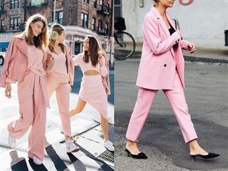 4 chiêu mặc màu hồng không lo sến