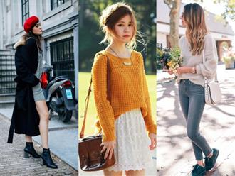 6 kiểu phục trang giúp chị em vừa trẻ trung, năng động mà lại không lo bị lạnh trong ngày trở gió