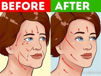 Phụ nữ U40 muốn xóa nếp nhăn ngay tại nhà, hãy chăm chỉ tập 7 động tác cơ mặt này mỗi ngày