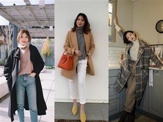 """Áo len cổ lọ + áo khoác dạ: Combo """"xưa như trái đất"""" đang được các quý cô sành mốt ưu ái hết mực"""