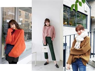 Áo len dáng rộng đang là mốt, và đây là những cách kết hợp 'vừa ấm vừa chất' mà bạn có thể tham khảo
