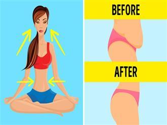 6 bài tập yoga chỉ cần ngồi hít thở, không vận động hay ăn kiêng, mỡ bụng cũng giảm hết giúp eo thon như Ngọc Trinh