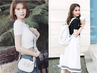 Gợi ý mặc đẹp với áo thun trắng trong mùa nồm ẩm