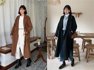 Bộ đôi áo khoác dài + quần ống rộng chẳng những không kén dáng mà còn biến mọi nàng thành quý cô sành điệu