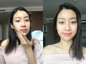 Học Hoa hậu Đỗ Mỹ Linh các bước dưỡng da buổi sáng để sở hữu mặt mộc đẹp lung linh, không tì vết