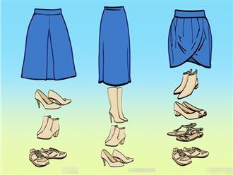 Muốn trở thành người sành thời trang, chỉ cần học ngay cách chọn giày phù hợp với 8 kiểu váy thông dụng này