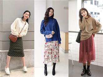 Cách diện chân váy trong mùa đông sành điệu và ấm áp