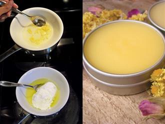 1 muỗng sáp ong - 3 cách làm kem dưỡng da ban đêm hiệu quả như mỹ phẩm Hàn