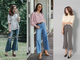 Học stylist cách phối đồ Tết với quần ống loe: Item sành điệu và hot nhất năm nay