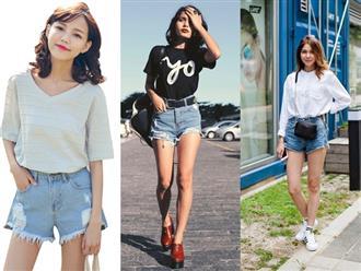 'Ti tỉ' cách phối đồ với quần short jean, phụ nữ mập hay gầy, lùn hay cao diện đều đẹp