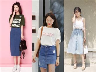 Bí quyết phối chân váy bò với từng loại áo cực chuẩn: Muốn mặc đẹp và sành điệu chẳng có gì khó