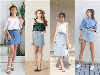 Phối đồ với chân váy jean: Vừa cá tính vừa cổ điển lại cực kỳ năng động