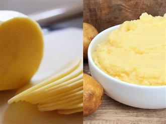 """Chỉ với vài """"mánh"""" nhỏ, các nàng đã có thể tái tạo làn da nhờ mặt nạ khoai tây rồi"""