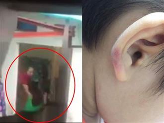 Clip: Cô giáo mầm non bạo hành con riêng của chồng gây phẫn nộ