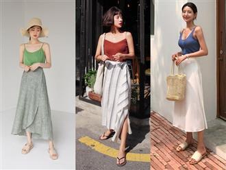 Combo áo hai dây + chân váy midi: vừa xinh vừa điệu, lại siêu mát để nàng tha hồ dạo phố cuối tuần