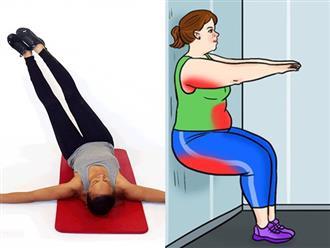 """""""Cống hiến"""" 8 phút mỗi ngày tập theo 8 bài tập thể dục này ngay tại nhà là bạn sẽ giảm cân ngay"""