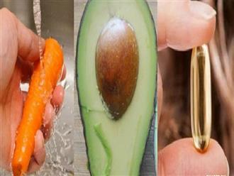 Đắp mặt bằng nửa quả bơ, 1 viên vitamin E, 1/4 củ cà rốt và điều kỳ diệu xảy ra!