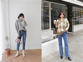 Dễ mặc và chắc chắn sẽ đẹp chính là bộ đôi áo len + quần jeans với 4 cách mix&match xinh miễn bàn này