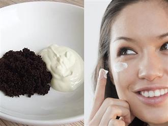 Diệt gọn bọng mắt, quầng thâm với loại mặt nạ đơn giản từ cà phê và sữa chua