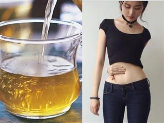 Cho vài lát gừng vào ly nước trà xanh uống trước khi ngủ giúp đốt cháy mỡ bụng cực nhanh