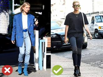 """Hãy tránh kiểu diện quần jeans + boots thấp cổ này nếu các nàng không muốn vóc dáng bị dìm """"tơi tả"""""""