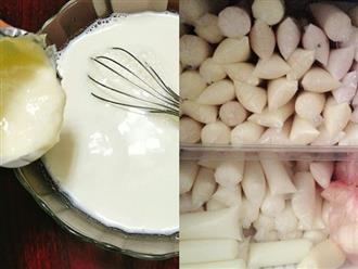 Hè đến rồi làm ngay sữa chua túi tuổi thơ để ăn mỗi ngày, vừa ngọt thơm mát lịm lại trắng da, giảm cân, tăng hẳn 3-5cm chiều cao sau 1 tháng
