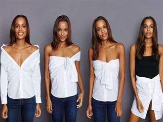 Hè ngập nắng cùng sơ mi trắng và 5 kiểu cách điệu chỉ với cùng 1 chiếc áo