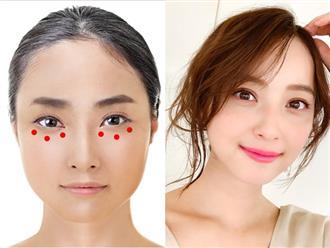 Học phụ nữ Nhật ấn vào các điểm này quanh đôi mắt mỗi ngày, nếp nhăn, quầng thâm hay bọng mắt đều biến mất
