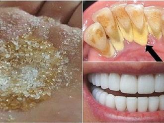 Không có phụ nữ răng vàng, hôi miệng, chỉ có phụ nữ chưa biết đến 2 công thức làm trắng răng, loại sạch mảng bám chỉ trong 2 phút như thế này thôi