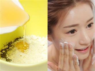 Không phải lo bị kem trộn bào mòn, làn da vẫn có thể sáng lên vài tone với bột gạo