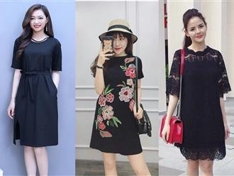 Có 4 kiểu váy suông chữ A này, nàng béo không lo dáng người 'ục ịch' khó chọn đồ Tết