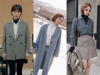 Lấy cảm hứng từ Song Hye Kyo, nàng công sở có ngay công thức layer áo cổ lọ + áo sơ mi chuẩn thanh lịch
