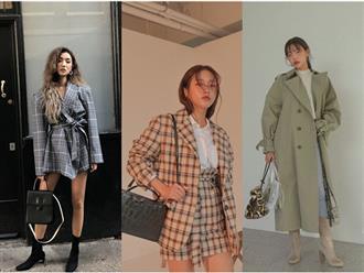 Mặc áo khoác rộng thùng thình chất như gái Hàn