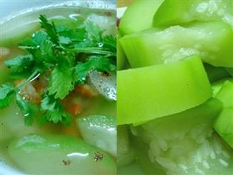 Món ăn giảm cân hiệu quả từ bí đao
