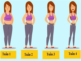 Kế hoạch tập luyện đơn giản giúp giảm cân, săn chắc vóc dáng chỉ sau 1 tháng