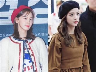 Mũ beret cổ điển 'phủ sóng' tủ đồ sao Hàn mùa thu 2018