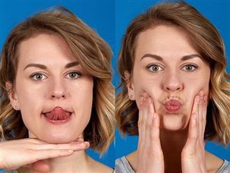 Muốn khuôn mặt thon gọn không còn ngấn mỡ, nọng cằm trước Tết, hãy chăm chỉ thực hiện 7 bài tập này mỗi ngày