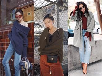 """Muốn trông """"sang - xịn - mịn"""" khi mặc áo len tối màu, các nàng hãy nhớ 3 tips diện đồ sau"""