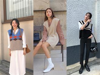 Năm nay áo gile len hot trở lại, chắc chắn xinh đáng để bạn đầu tư ngay tắp lự