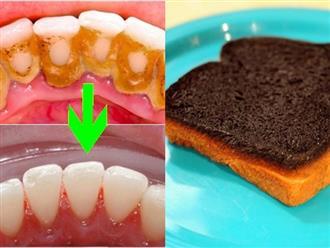 Nếu có ý định đi bọc răng sứ hãy dừng lại ngay, chà 1 mẩu bánh mì trong 3 phút, cao răng sẽ tự rơi rụng, hôi miệng thơm tho ngay tức khắc
